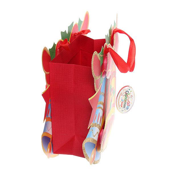 Пакет подарочный 26х25х8 см ″Новогодний бум″ 3D купить оптом и в розницу