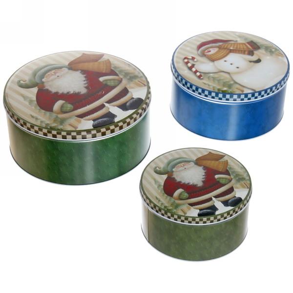 Набор банок жестяных 3шт ″Новогодние″ (400,700,1500мл) купить оптом и в розницу