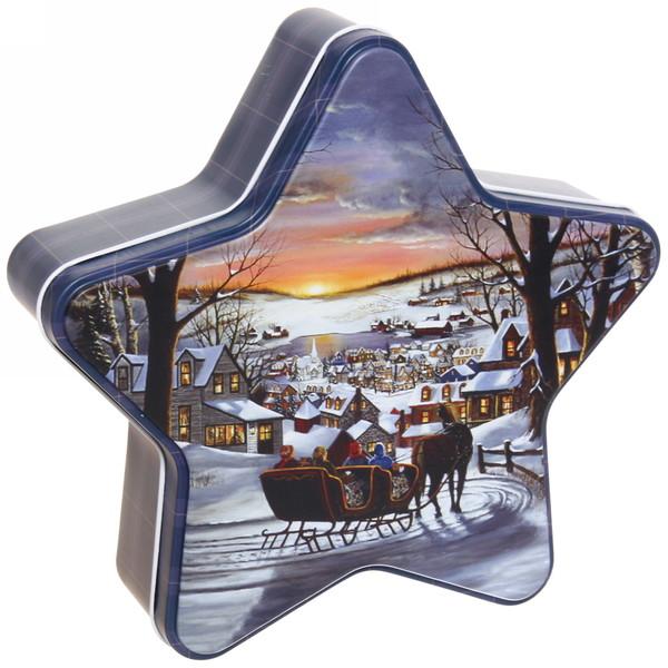 Набор банок жестяных 3шт ″Рождество″ (300,500,1000мл) купить оптом и в розницу
