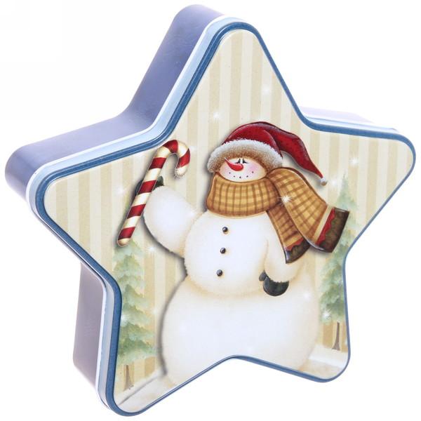 Набор банок жестяных 3шт ″Дед Мороз″ (300,500,1000мл) купить оптом и в розницу