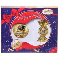 Набор магнит и елочная игрушка-конфетка ″В этом году тебе повезет″, Денежный петушок купить оптом и в розницу