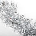 Мишура новогодняя 2 метра 9см ″Зимушка″ серебро купить оптом и в розницу