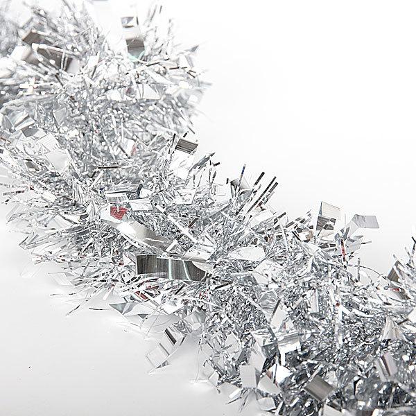 Мишура 2м 9см ″Зимушка″ серебро купить оптом и в розницу
