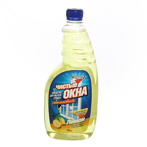 Средство для мытья стекол ЗОЛУШКА Чистые окна Лимон сменный блок 750мл. купить оптом и в розницу
