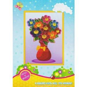 Набор ДТ Квиллинг Ваза с цветами QW-6 купить оптом и в розницу