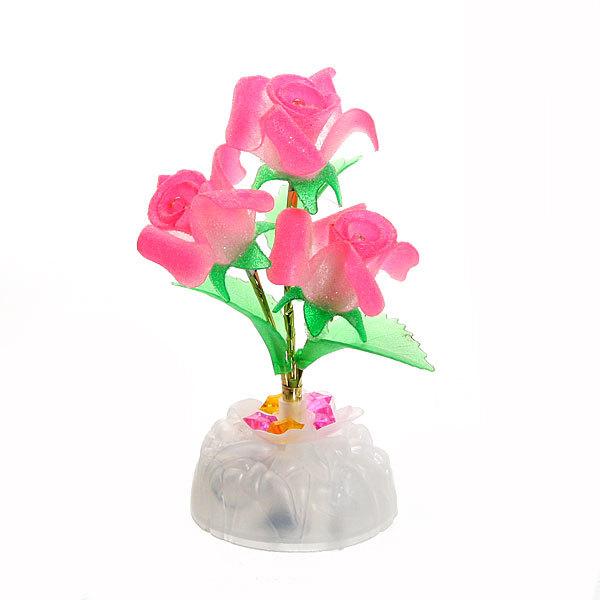 Фигурка из акрила ″Розы″ 17 см 3 штуки LED 390 купить оптом и в розницу