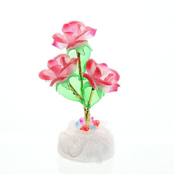 Фигурка из акрила ″Розы бутоны″ 17 см 3 штуки LED 391 купить оптом и в розницу