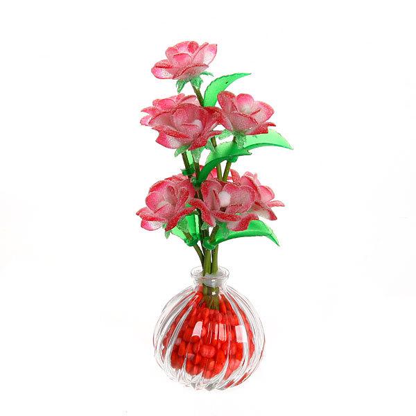 Фигурка из акрила ″Розы″ 22 см 8 штуки в вазе S086 купить оптом и в розницу