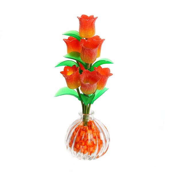Фигурка из акрила ″Тюльпаны″ 22 см 8 штуки в вазе S083 купить оптом и в розницу