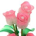 Фигурка из акрила ″Бутоны роз″ 22 см 8 штуки в вазе S082 купить оптом и в розницу