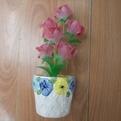 Фигурка из акрила ″Розы бутоны в горшке″ 18 см 6 штуки в вазе GM690 купить оптом и в розницу