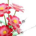 Фигурка из акрила ″Гвоздики в горшке″ 18 см 6 штуки в вазе GM650 купить оптом и в розницу