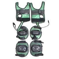 Защита комплект универсальный KL-221 (колени,локоть,кисть,4-7 лет) цв.зеленый купить оптом и в розницу