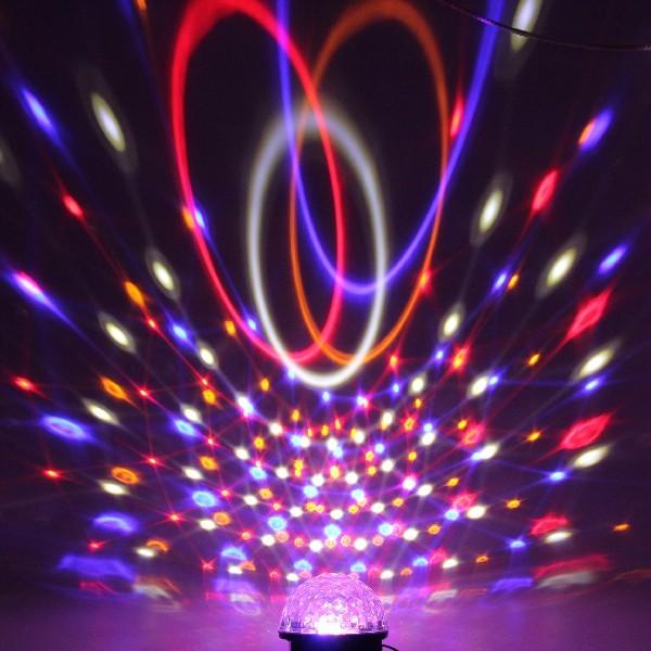 Светодиодный диско шар ″Купол-круг″, RGB(красный, зеленый, синий), вращение, mic, auto купить оптом и в розницу
