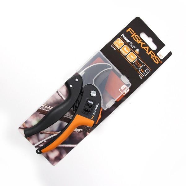 Секатор контактный с храповым мех-м PowerStep P83 (111670) FISKARS купить оптом и в розницу
