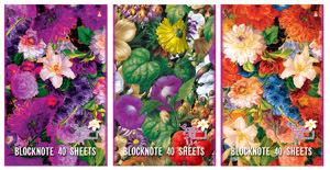 """Блокнот А5 40л.кл.сшивка,картон.обл.АЛЬТ, """"Цветы"""", 4 вида купить оптом и в розницу"""