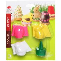 Форма для печенья 4 шт ″Пасха″ кролик купить оптом и в розницу
