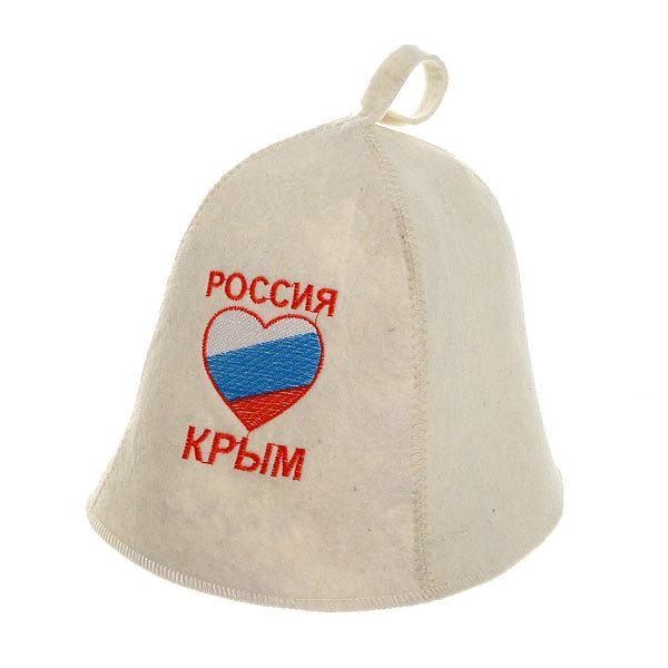 Шапка ″Россия, Крым″ полушерсть купить оптом и в розницу