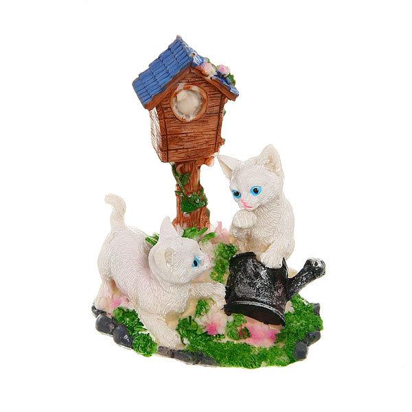 Фигурка из полистоуна ″Кошечки на лужайке″ 12*9 см купить оптом и в розницу