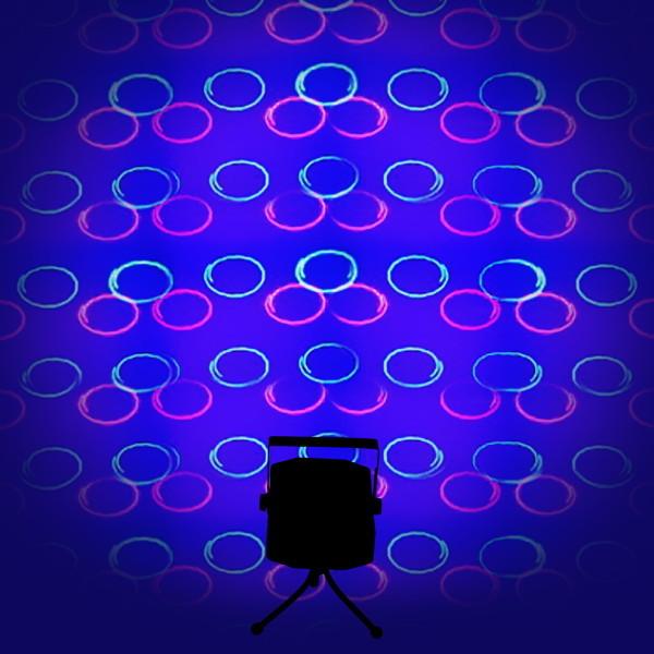 Световой прибор Лазер NW-S-G02 c LED подсветкой, 4 режима, mic, RG, круги купить оптом и в розницу