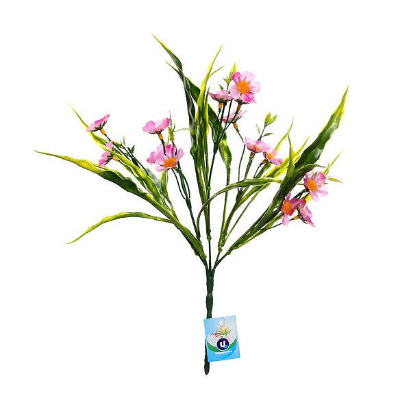 Цветы искусственные 28см букет Полевые цветы 75092 купить оптом и в розницу