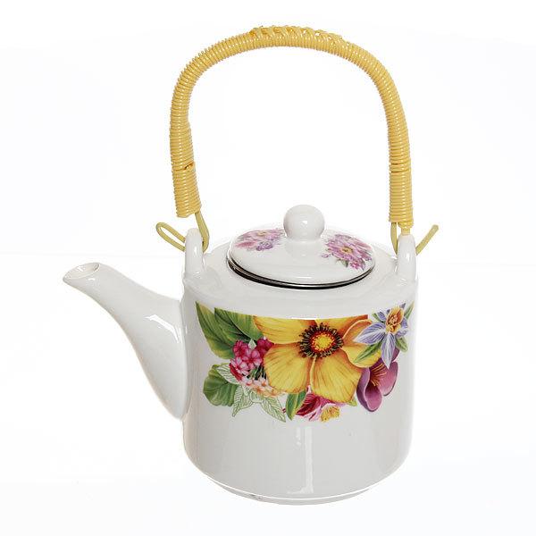 Чайник заварочный керамический 500 мл ″Цветы″ №3 купить оптом и в розницу