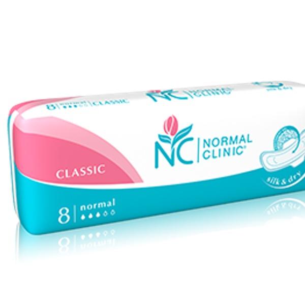 Прокладки женские NORMAL cliniс Classic ″COMFORT″ - cotton & velvet - 3 капли, 240 мм 8шт купить оптом и в розницу
