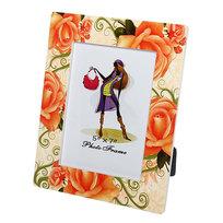Фоторамка из керамики ″Оранжевые розы″ 13*18 см купить оптом и в розницу