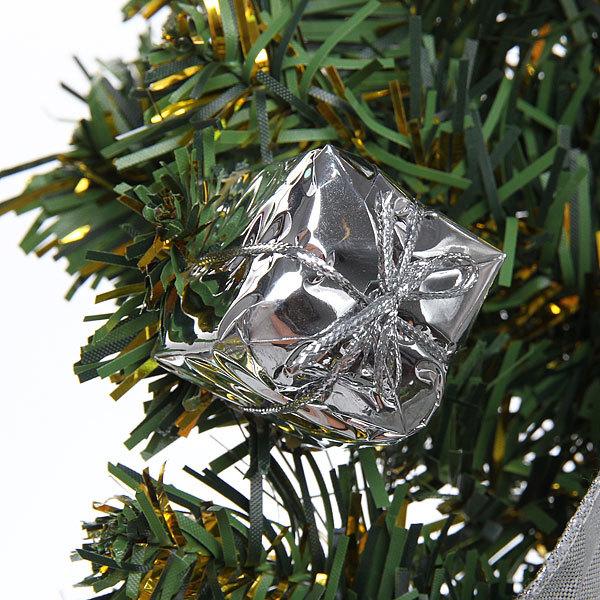 Елка искусственная в горшке настенная 60см НС-5033G/24 серебро купить оптом и в розницу