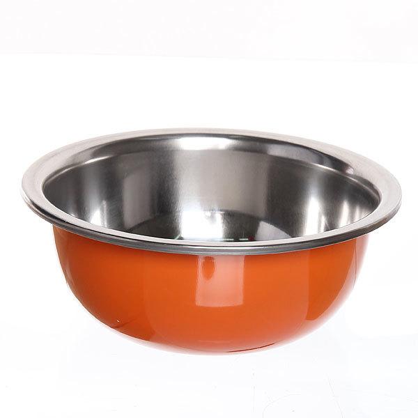 Миска металлическая 19 см 800 мл оранжевая купить оптом и в розницу