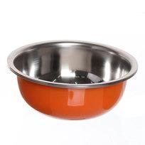 Миска металлическая 21 см 1000 мл оранжевая купить оптом и в розницу