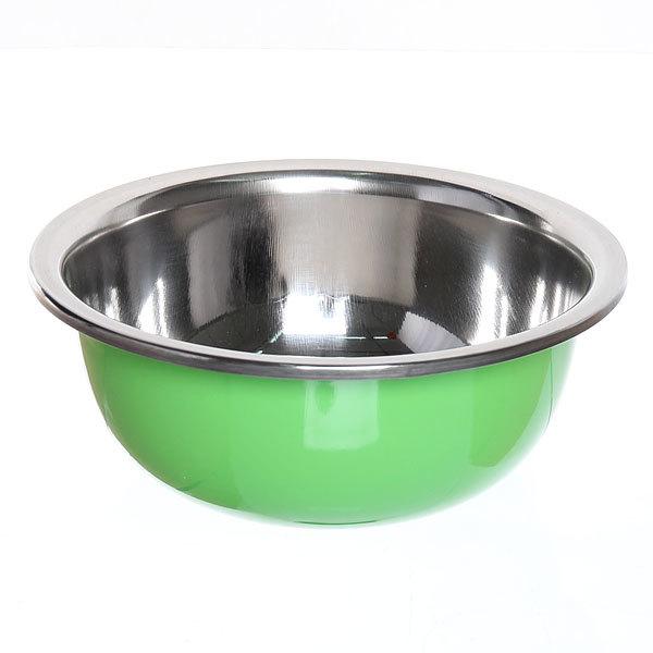 Миска металлическая 19 см 800 мл зеленая купить оптом и в розницу