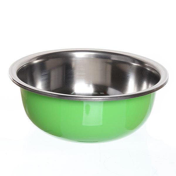 Миска металлическая 21 см 1000 мл зеленая купить оптом и в розницу