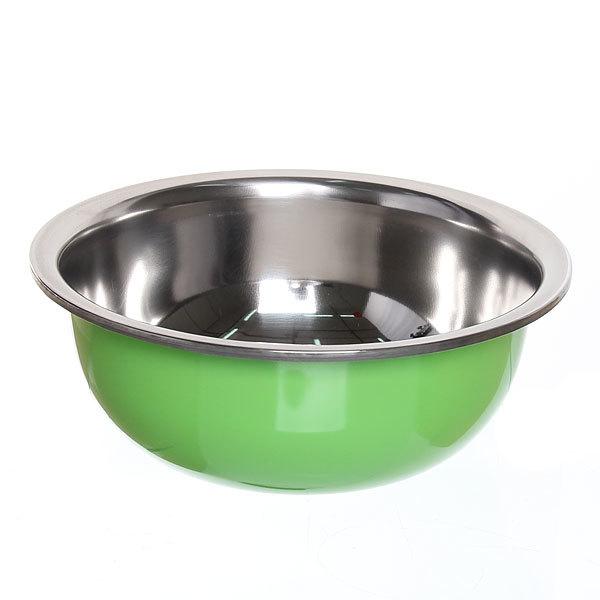Миска металлическая 23 см 2000 мл зеленая купить оптом и в розницу