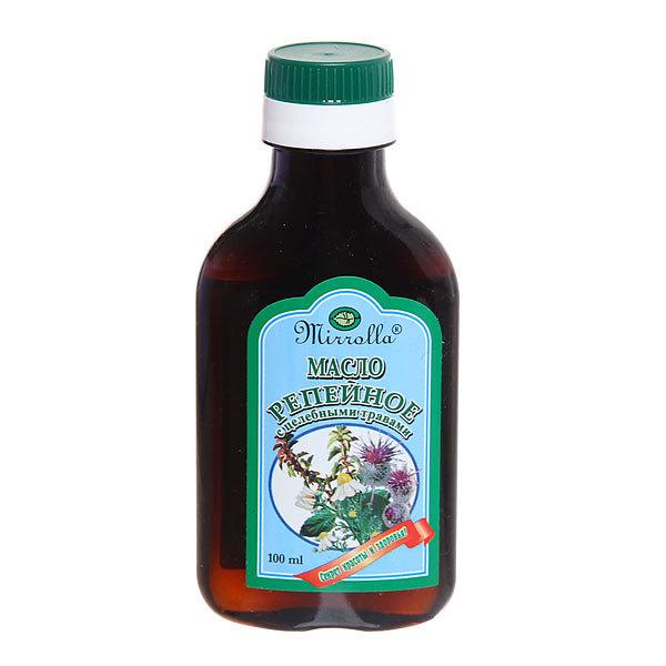 Репейное масло «Mirrolla» с целебными травами 100 мл купить оптом и в розницу