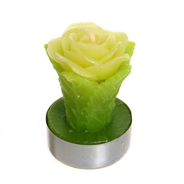 Свеча ″Желтые бутоны с листьями″ 5 см 6 штук купить оптом и в розницу