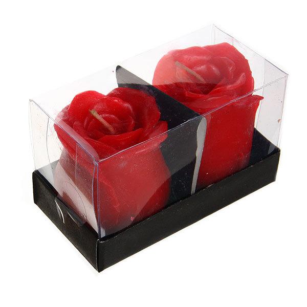 Свеча ″Розы″ 4 см 2 штуки 1550, 1552 купить оптом и в розницу