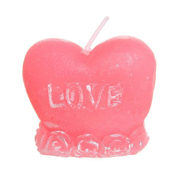 Свеча ″Сердце I Love you″ 5 см 1 штука RC-0538 купить оптом и в розницу