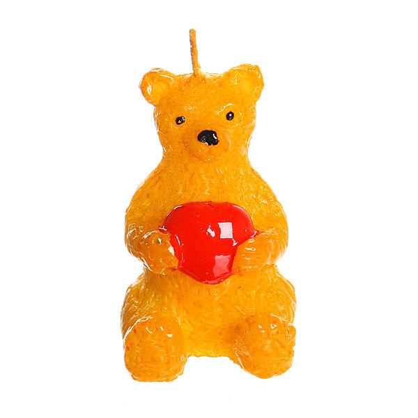 Свеча ″Мишка с сердцем″ 4,5 см купить оптом и в розницу