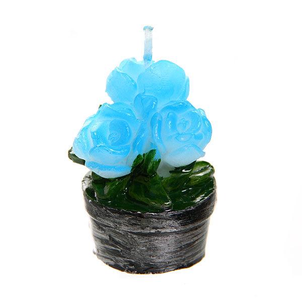 Свеча ″Синий букет в вазе″ 5 см купить оптом и в розницу