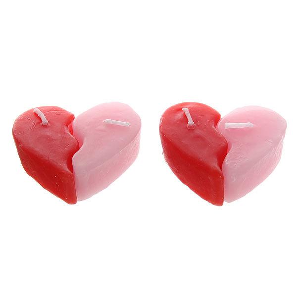 Свеча ″Сердце две половинки″ 5 см 2 штуки XSX-2 купить оптом и в розницу