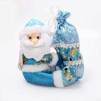 Мягкая игрушка ″Дед Мороз с мешком″ 21см купить оптом и в розницу
