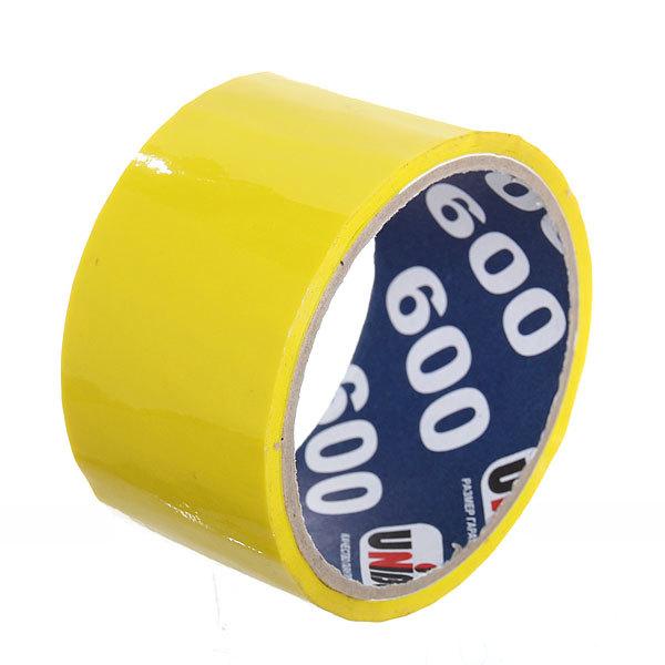 Клейкая лента упаковочная 48 мм х 24 м, 45 мкм желтая (UNIBOB) купить оптом и в розницу