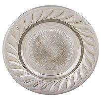 Тарелка металлическая 24 см ″Цветы″ купить оптом и в розницу