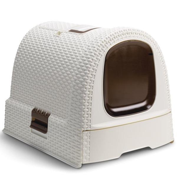 Туалет для кошек кремово-коричневый Curver купить оптом и в розницу