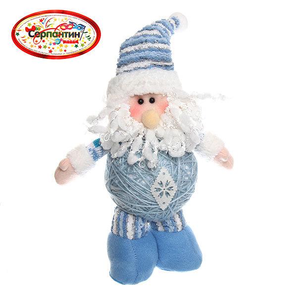 Мягкая игрушка ″Дед Мороз в полосатом колпаке″ 30см купить оптом и в розницу