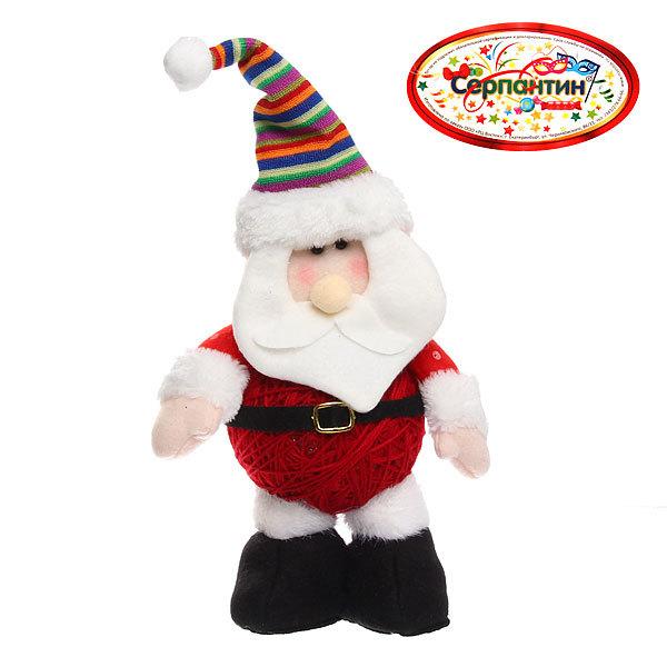 Мягкая игрушка ″Дед Мороз в полосатом колпаке″ 29см купить оптом и в розницу