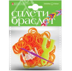 """Набор д/дет.творч.Плетение из резиночек """"Неоновый оранжевый"""" 300шт купить оптом и в розницу"""