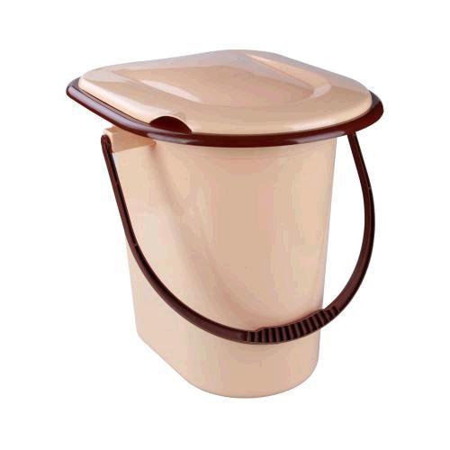 Ведро-туалет 17л. (бежевый)(уп.10)   (Октябрьский) купить оптом и в розницу