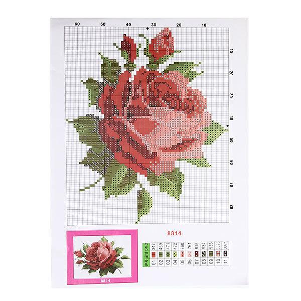 Набор для вышивания 26*20,5см Роза MY8814 купить оптом и в розницу